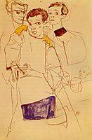 Triple Self Portrait, 1913, schiele