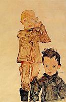 Two Boys, 1910, schiele