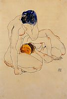 Two Friends, 1912, schiele