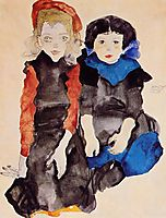 Two Little Girls, 1911, schiele