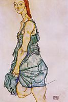 Upright Standing Woman, 1912, schiele