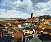 View from the Drawing Classroom, Klosterneuburg, c.1905, schiele