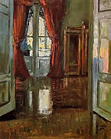 View into the Apartment of Leopold and Marie Czihaczek, 1907, schiele