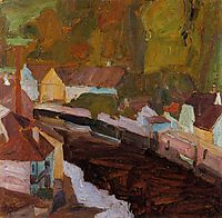 Village by the River, 1908, schiele