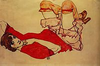 Wally with a Red Blouse, c.1913, schiele