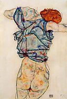 Woman Undressing, 1914, schiele