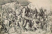 Christ bearing his cross, schongauer