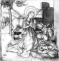 Christ-s birth, schongauer