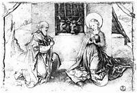 Christ-s birth , schongauer