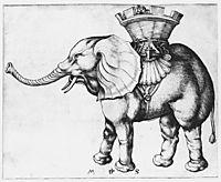Elefant, c.1485, schongauer