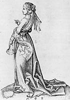 The First Foolish Virgin, 1483, schongauer