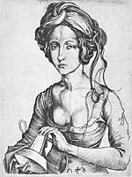 A Foolish Virgin, c.1480, schongauer