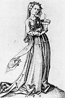 The Fourth Wise Virgin, 1483, schongauer