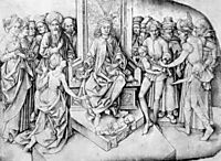 Judgement of Solomon, schongauer