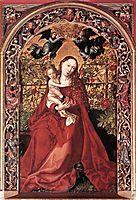 Madonna of the Rose Bush, 1473, schongauer