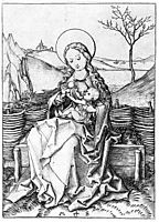 Madonna on the Turf Bench, schongauer