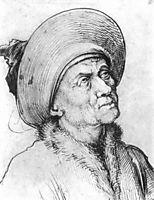 Man in a Hat Gazing Upward, schongauer