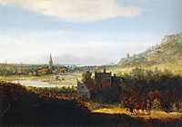 Landscape with Armed Men, 1635, seghers