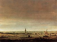 Landscape with City on a River, 1629, seghers