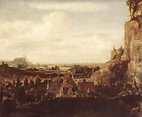 A River Valley with a Group of Houses, 1625, seghers