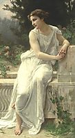 Young Woman of Pompeii on a Terrace, seignac