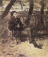 Alexander Pushkin in a Park , 1899, serov