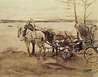 At the ferry, 1905, serov
