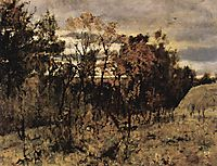 Autumn evening. Domotkanovo, 1886, serov