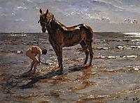Bathing a Horse , 1905, serov