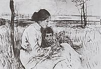 Children of the artist. Olga and Anton Serov, 1906, serov