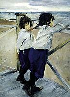 Children. Sasha and Yura Serov, 1899, serov