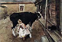 Farm Yard in Finland, 1902, serov