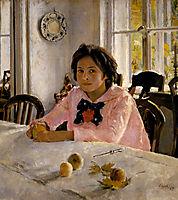 Girl with Peaches , 1887, serov