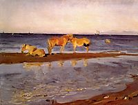 Horses on a Shore, 1905, serov