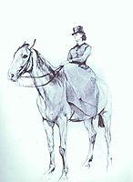 Maria Mamontova Riding a Horse, 1884, serov