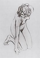 Naked woman, 1910, serov