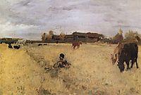 October. Domotcanovo, 1895, serov