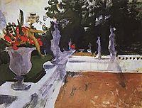 Portico with a balustrade. Arkhangelsk, 1903, serov