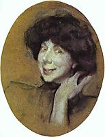 Portrait of Anna Benois, 1908, serov
