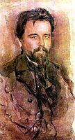 Portrait of Anton Chekhov, 1903, serov