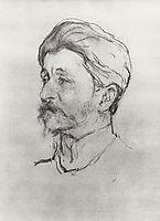 Portrait of the Artist M.A. Vrubel, 1907, serov