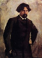 Portrait of the Artist Vasily Surikov, serov