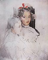 Portrait of Children of S. Botkin, 1900, serov