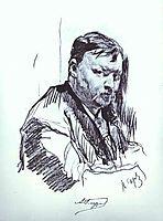 Portrait of the Composer Alexander Glazunov, 1899, serov