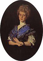 Portrait of Elisaveta Karzinkina, 1906, serov