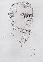 Portrait of I.M. Moskvitin, 1908, serov