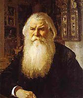 Portrait of Ivan Zabelin, 1892, serov
