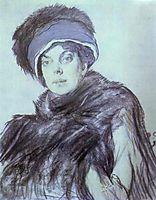 Portrait of Izabella Grunberg, 1910, serov