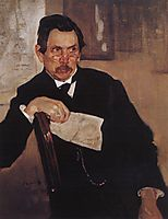 Portrait of A. Kasyanov, 1907, serov