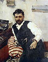 Portrait of Konstantin Korovin , 1891, serov